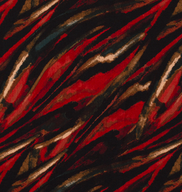 linnenlook printed rood, groen zwart