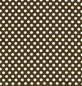 Nooteboom Crepe georgette retro dots khaki