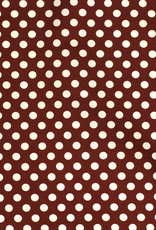 Nooteboom Crepe georgette retro dots roest
