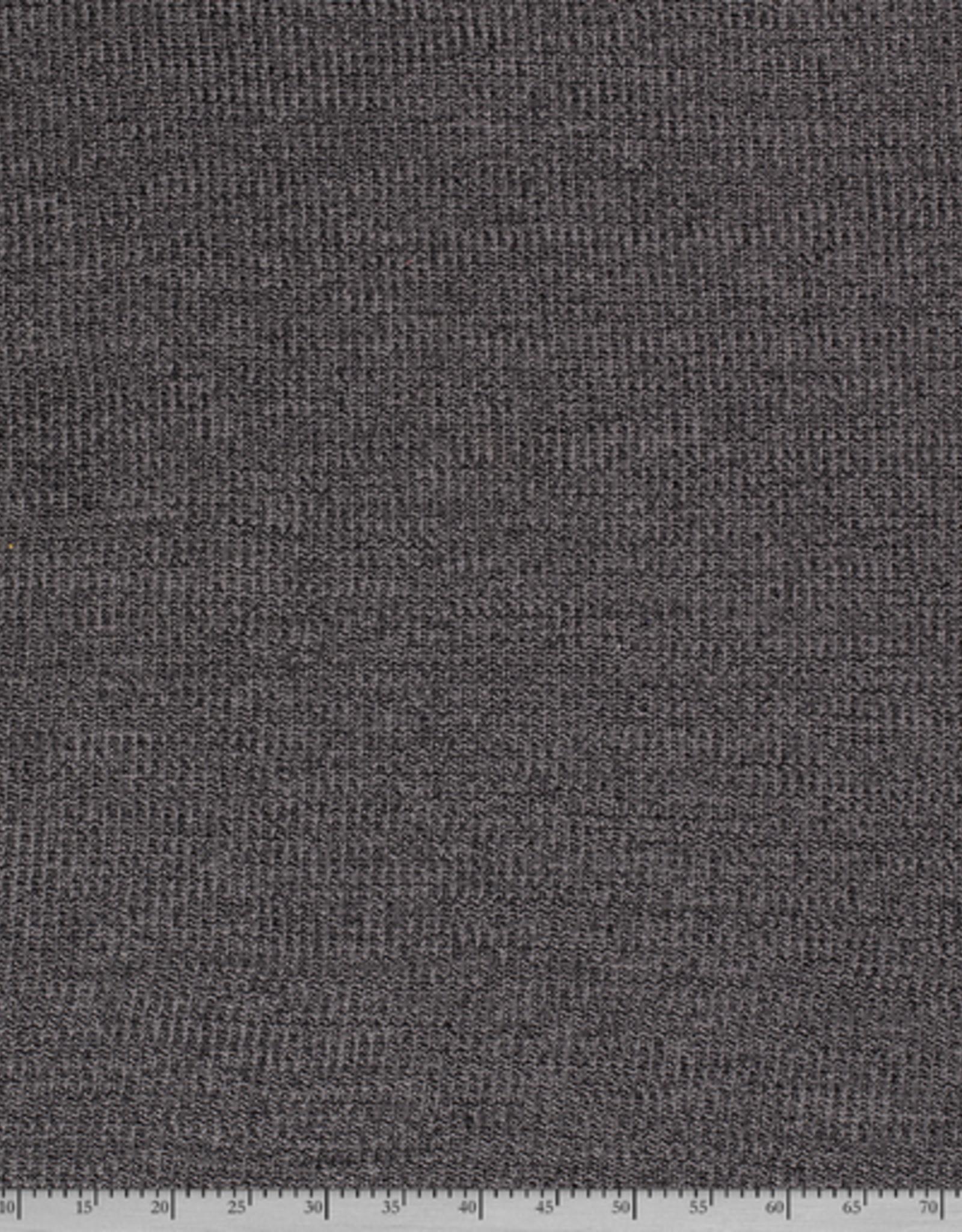 Nooteboom Katoen breisel met kabel mélange grijs/antraciet