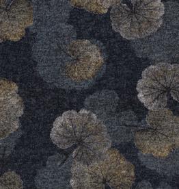 Nooteboom Dicentra soft sweat herfstbladeren jeansblauw mélange