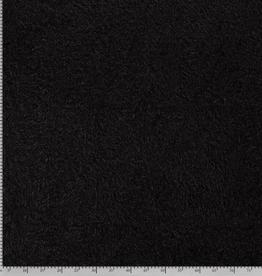 Nooteboom COUPON  Fluffy teddy zwart 50x150cm