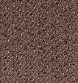 Nooteboom Viscosetricot paisley smal khaki