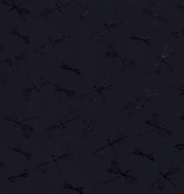 Nooteboom Tricot folie bedrukking libellen marine
