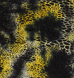 Nooteboom Tricot tie-dye netstructuur geel/zwart