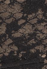 Nooteboom Spandex dierenprint snakeskin metallic zilver glitter