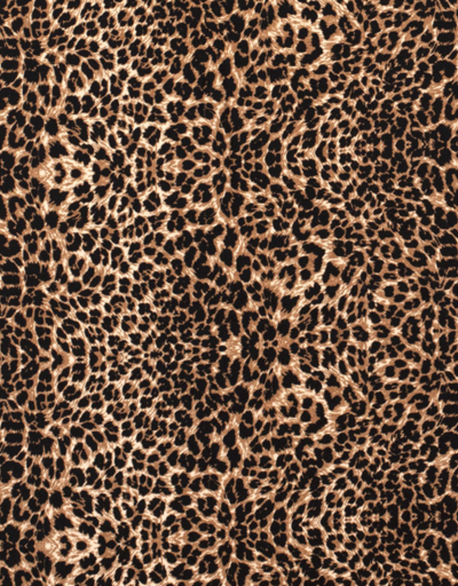 Nooteboom Bubble chiffon luipaardprint bruin gevlekt