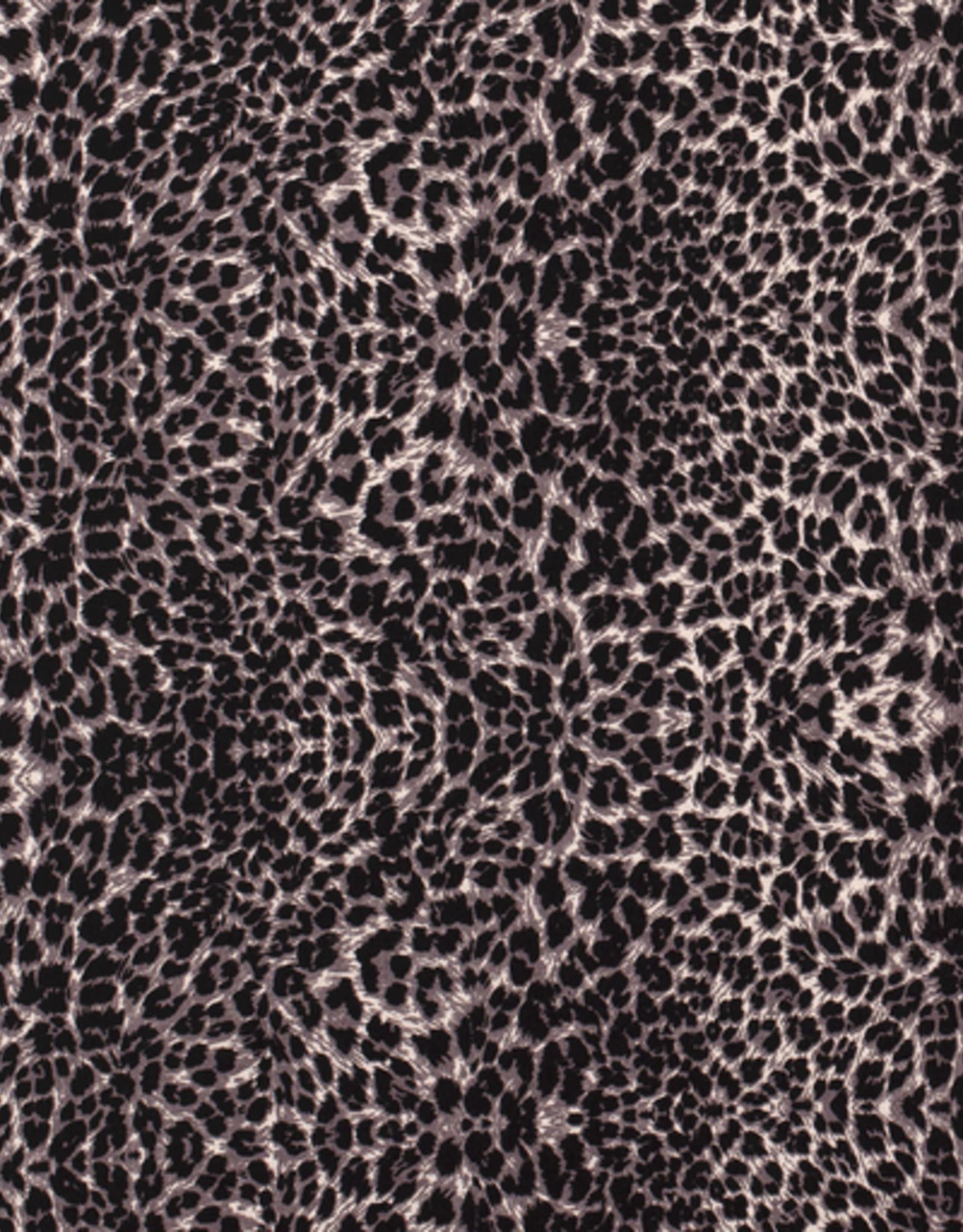 Nooteboom Viscose luipaardprint zwart