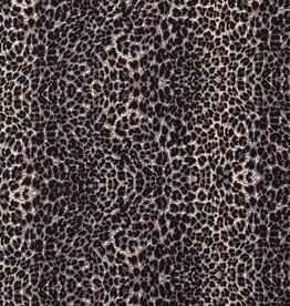 Nooteboom COUPON Viscose luipaardprint zwart 67CMX140CM