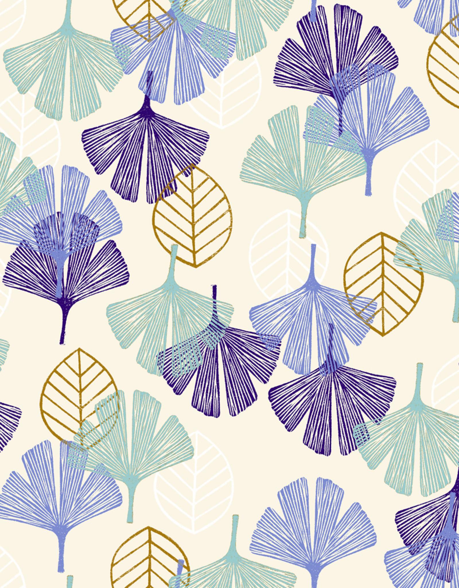 Happy day blue leafs