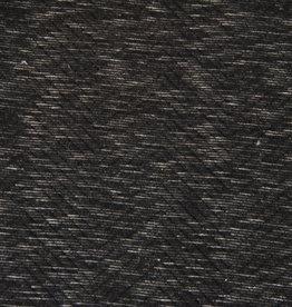 Hilco COUPON  Remy structuurtricot zwart/antraciet 30x155cm