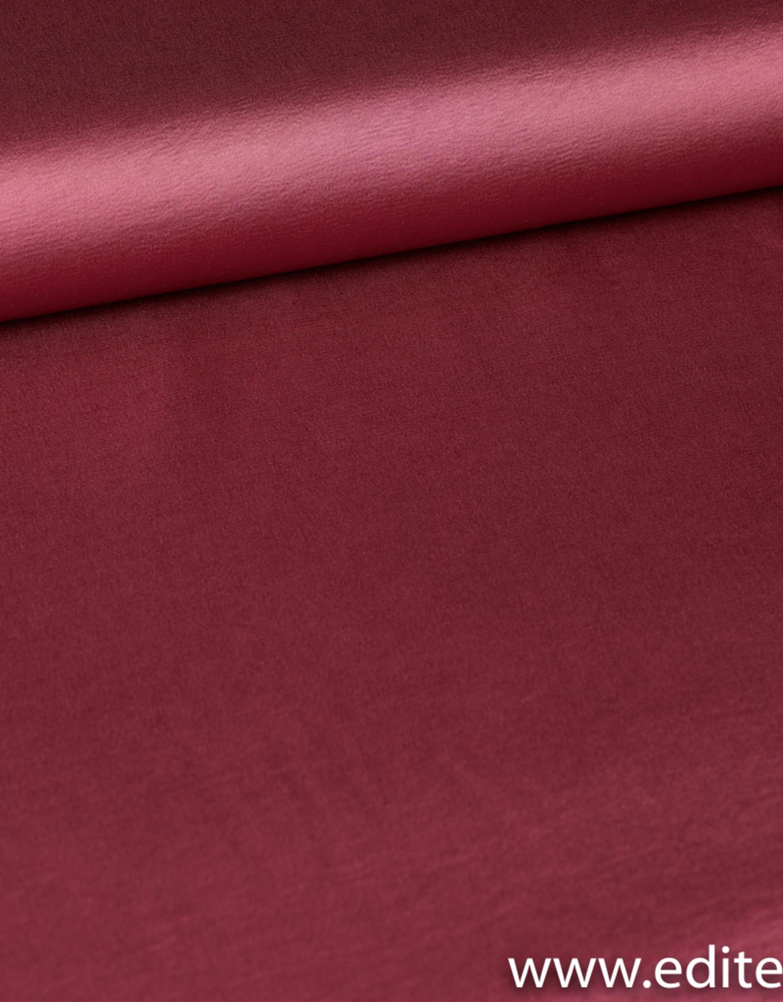 La Maison Victor Satijn framboos roos - LMV Carline jurk