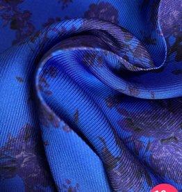 La Maison Victor Viscose twill kobalt gebloemd - LMV