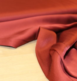 A La Ville Haute Couture COUPON Viscose satijn roest 120x140cm
