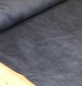 Toptex Bi-elastisch suede lederimitaat marine blauw