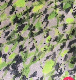 La Maison Victor Viscose crepe satijn beige met neon spatten - LMV