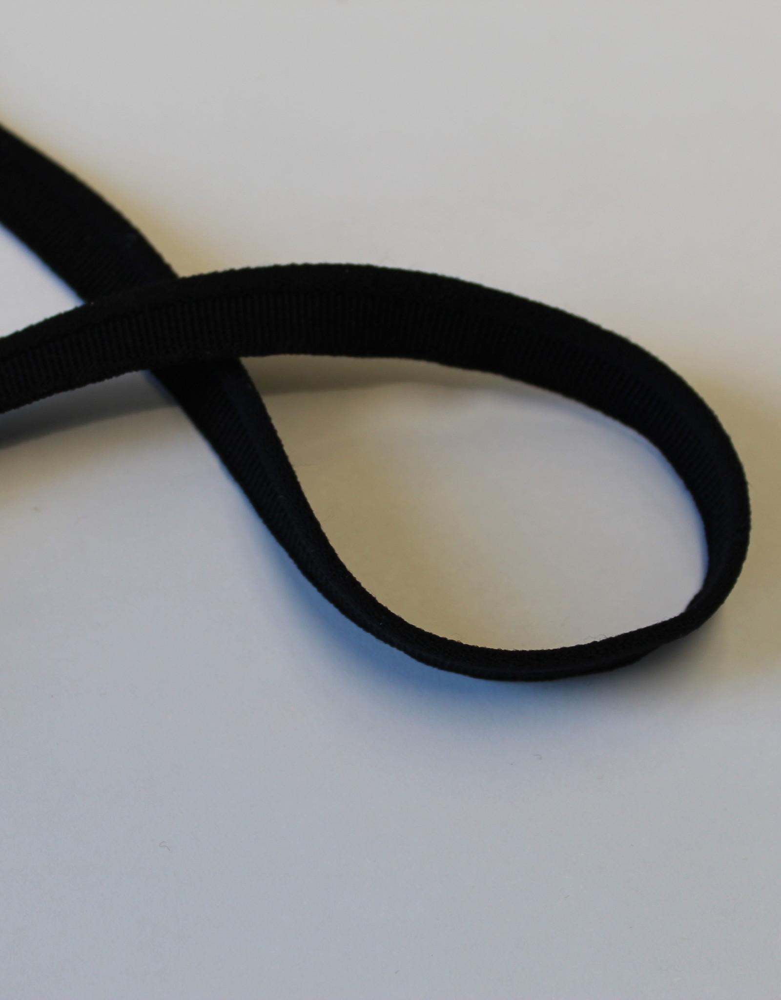 Elastische paspel smal zwart col.14