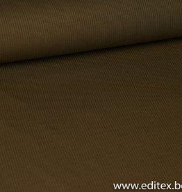 Fibre Mood Geribbeld tricot khaki