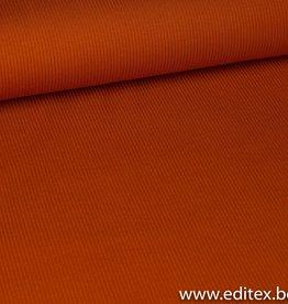 Fibre Mood Geribbeld tricot terracotta oranje