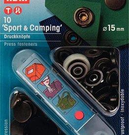 Prym Prym - Naaivrije drukknopen sport&camping mat zwart 15mm - 390 199