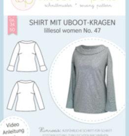 Lillesol & Pelle Shirt met Uboothals kraag vrouwen no 47
