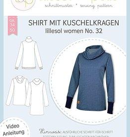 Lillesol & Pelle Shirt met watervalkraag vrouwen no 32