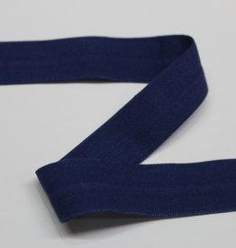 Elastisch biais - lint met vouwlijn marine 20mm