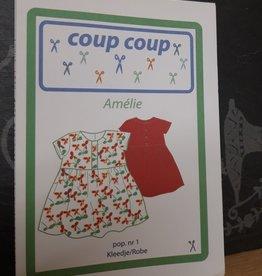 coup coup Amélie  kleedje voor pop nr 1 - coup coup