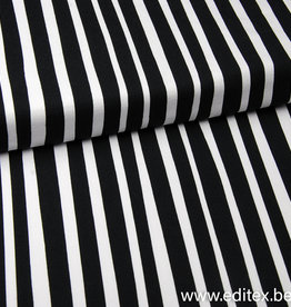 Eva Mouton French Terry Zebra Stripes - Eva Mouton