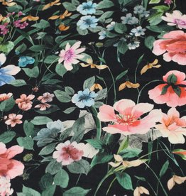 Viscose twill beautiful flower print