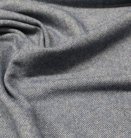 A La Ville Haute Couture COUPON Visgraat zachtblauw 100x155cm