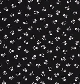 Katoen zwart met skulls
