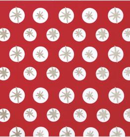Rico Design Kerst katoen rood sneeuwvlokken