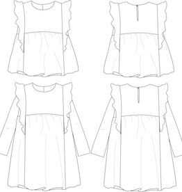 Ikatee Stella - Blouse en jurkje met ruffles