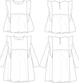 Stella - Blouse en jurkje met ruffles