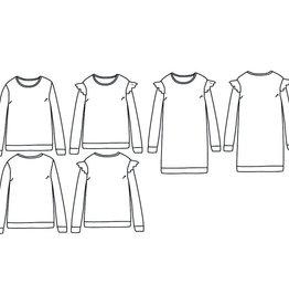 Ikatee Jasmin Mum- sweaterjurk, T-shirt, slaapkleedje met of zonder ruffles