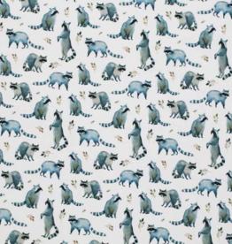 COUPON Jersey Digital Print - Raccoons (77C150cm)