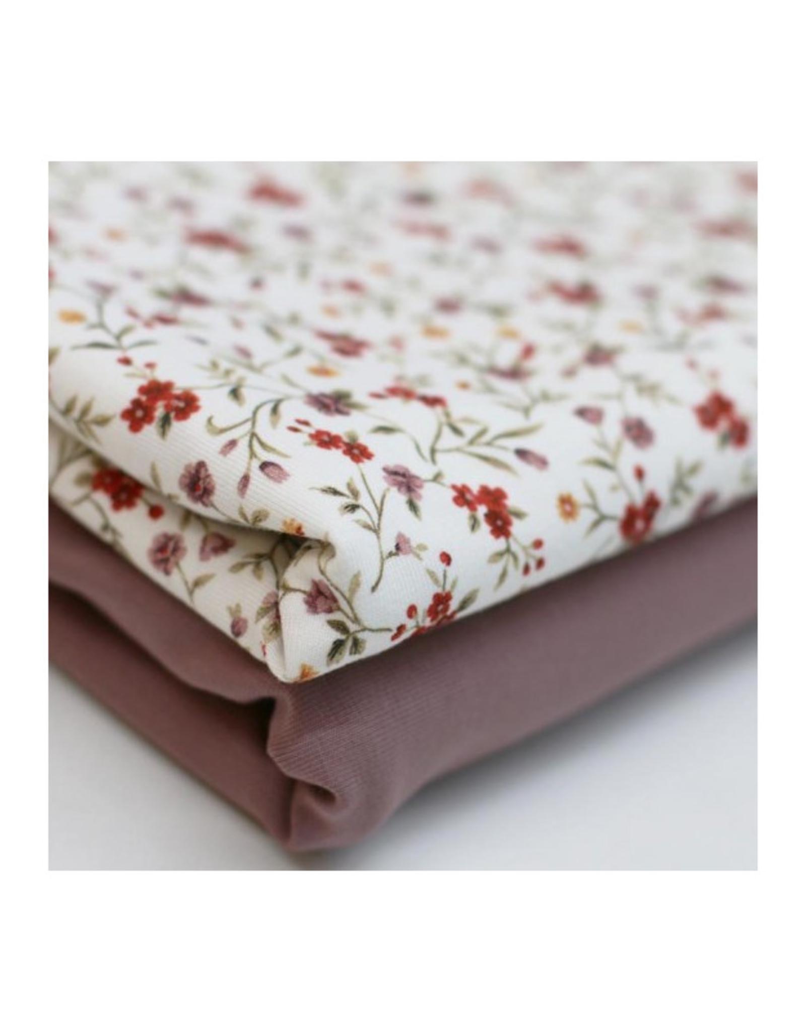 Jersey Digital Print - Romantic Flower roest