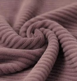 Big Knitted Corduroy Jersey Old Mauve