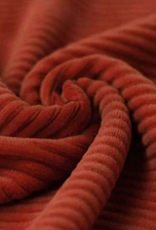 Big Knitted Corduroy Jersey Burnt Orange