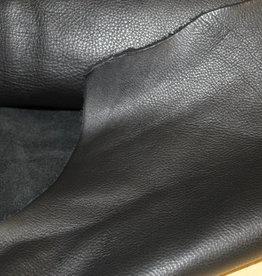 Echt leder zwart (per cm²)