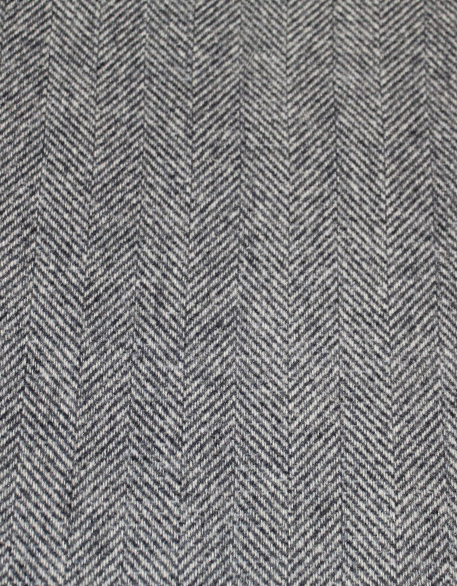 Toptex Mantelstof visgraat  wol grijs-blauw