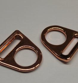 O-ring met gleuf koper 25mm