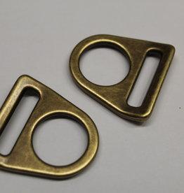 O-ring met gleuf antiekgoud 25mm