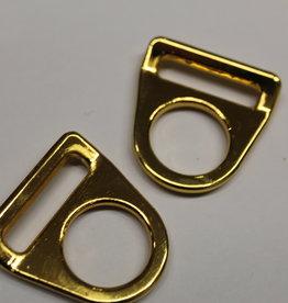 O-ring met gleuf goud 25mm