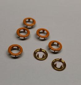 Navulling jersey drukknopen oranje 11mm