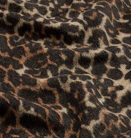 Nooteboom Mantelstof met luipaardprint