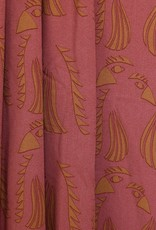 About Blue Fabrics Wonders of Life - Parrot Red Viscose