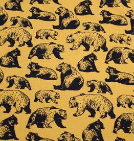 Organic French Terry Ochre Bears