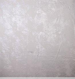 French Terry wit met zilveren folie print